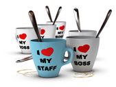 工作人员关系和动机、 工作场所 — 图库照片