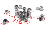 Collaborative Finance, Crowdfunding — Stock Photo
