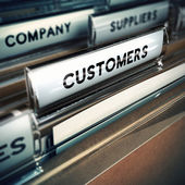Customers Base or File Concept — Stock Photo