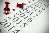 2015 - Timeline Concept — Stock Photo