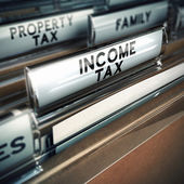 Income Tax - Taxes Concept — Stock Photo