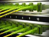 Network Infrastructure, Fiber Optics Connections — Stock Photo