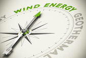 Green Energies Choice - Wind Energy Concept — Stock Photo