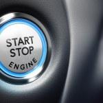 Engine Start Button — Stock Photo