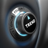 Trading, Trend Following — Stock Photo