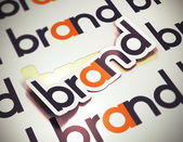 Brand Name - Company Identity — Stock Photo