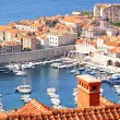 Old town Dubrovnik and the marina — Stock Photo #50337755
