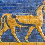 Golden Calf, ancient mosaic, Assyria — Stock Photo #50516677