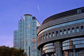 European parlament building on a sunset — Foto Stock