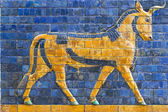 Golden Calf, ancient mosaic, Assyria — Fotografia Stock