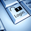 Keyboard and Login button, internet concept — Stock Photo #11304268