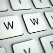 Keyboard with WWW buttons, internet concept — Stock Photo #11304337
