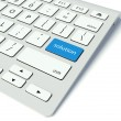 Keyboard and blue Solution button, help concept — Stock Photo #11304711