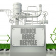 Stock Photo: Reduce reuse recycle concept with eco symbol