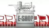 E-shopping concept with carts — Stock Photo