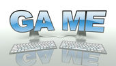 Internet game concept and online connection — Stock Photo