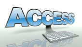 Access concept with computer and network — Stock Photo