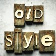 Old style concept with vintage letterpress — Stock Photo #12431693