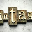 Royalty-Free Stock Photo: Vintage concept with retro letterpress