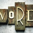 Word concept with vintage letterpress — Stock Photo