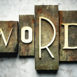 Word concept with vintage letterpress - Stock Photo