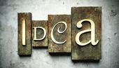Idea concept with vintage letterpress — Stock Photo