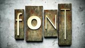 Font concept with vintage letterpress — Stock Photo