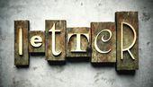 Concept de lettre avec typographie vintage — Photo