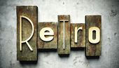 Retro concept with vintage letterpress — Stock Photo