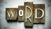 Koncepcja programu word z rocznika druki — Zdjęcie stockowe