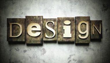 Design concept with vintage letterpress