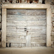 Royalty-Free Stock Photo: Old wooden door in stone house
