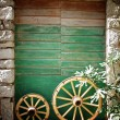 Old stone house with green door in Croatia — Stock Photo #13173942