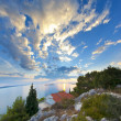 Royalty-Free Stock Photo: Panorama of coast, islands and old town, Croatia Dalmatia