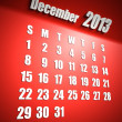 Calendar 2013 december red background - Stock Photo