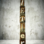 Letter concept, vintage letterpress type — Stock Photo