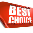 Stock Photo: Best choice concept, cut out in sticker