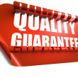 Quality guarantee concept, cut out in background — Stock Photo