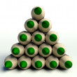 Christmas tree made ??of green wooden pencils — Stock Photo