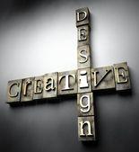Creative design concept, vintage letterpress text — Stockfoto