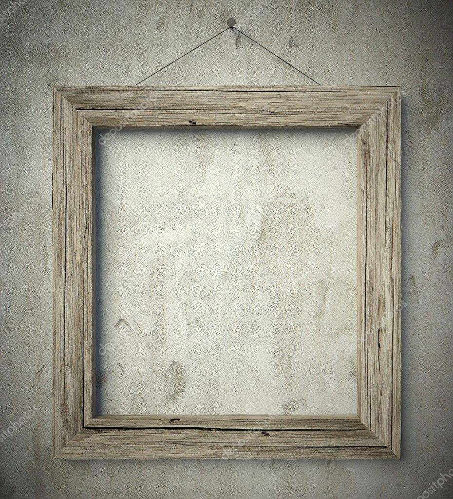 Simple old circle wooden frame, vintage background — Stock Photo ...