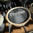 Typewriter with Thriller button, vintage — Stock Photo