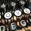 Typewriter with Novel buttons, vintage — Stock Photo #18382791
