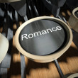 Typewriter with Romance button, vintage — Stock Photo