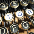 Stock Photo: Typewriter with Story buttons, vintage