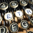 Typewriter with Retro buttons, vintage — Stock Photo