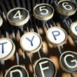 Stock Photo: Typewriter with Typo buttons, vintage