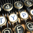 Typewriter with Typo buttons, vintage - Stock Photo