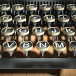 Close up of vintage typewriter keys — Stock Photo #18383569