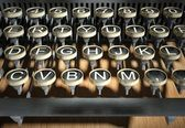 Close up of vintage typewriter keys — Stock fotografie